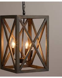 Iron And Wood Chandelier Amazing Deal On Gray Wood And Iron Valencia Chandelier