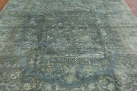 Blue Wool Rug 8x10 New Hand Knotted Overdye Floral Rug 8 U0027 X 10 U0027 Sky Blue Brown Wool H3331