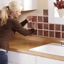 Stick On Kitchen Backsplash by Self Stick Backsplash Tiles From Montgomery Ward 47844