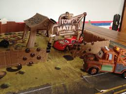 car junkyard diorama dan the pixar fan cars mater u0027s junkyard playset