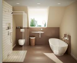 a geberit in wall toilet system provides extra space in this warm