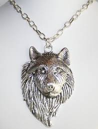 silver wolf pendant necklace images Men 39 s antique silver wolf pendant necklace by 123gemstones on jpg