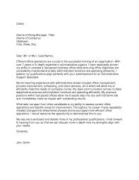 Cover Letter For It Company Cover Letter For Administrative Support Choice Image Cover