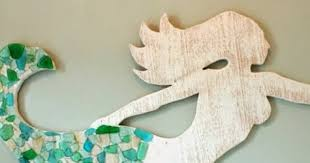 wooden mermaid wall make a wood mermaid for wall decor completely coastal