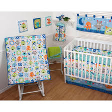 5 Piece Nursery Furniture Set by Sumersault Monster Babies 5 Piece Crib Bedding Set Walmart Com