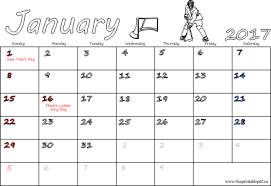 2017 calendar with usa holidays