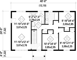 ranch style house plan 3 beds 1 00 baths 960 sq ft plan 25 4658