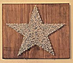 primitive home decor star string and nail art by kellyskrafts12