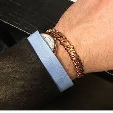 cuff bracelet mens images Bold copper helix mens cuff bracelet aftcra jpg