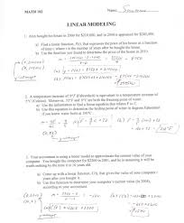 modeling with linear equations worksheet
