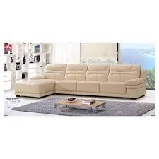 canapé d angle cuir beige canapé d angle en cuir beige angle gauche ref5811 sous commande