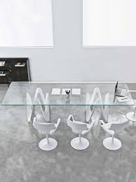 all glass dining table large glass dining table lambda glassdomain