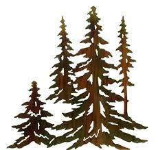 pine tree stand wall