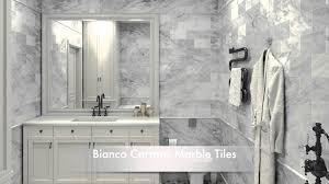 Subway Tile Ideas Carrara Marble Subway Tile Bathroom Saomc Co