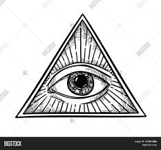 all seeing eye drawing vector illustration all seeing