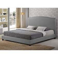 Pltform Bed by Baxton Studio Norwich Upholstered Platform Bed With Bench Hayneedle