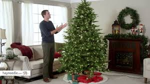 7 5 ft feel real nordic spruce hinged christmas tree clear