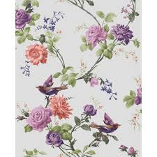 Wallpaper With Birds Floral Wallpaper With Birds
