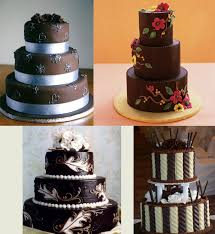 chocolate wedding cakes chocolate wedding cakes with flowers