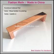 rose gold cabinet pulls furniture hardware square rose gold cabinet door pull handles buy