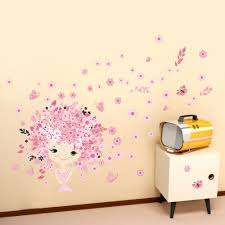 popular fairy wall decals buy cheap fairy wall decals lots from 3d fairy girl princess castle wall sticker butterfly flowers for bedroom kids room liviong room home