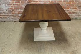 Rectangular Pedestal Table Small Square Pedestal Table Ecustomfinishes