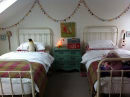 bedroom vintage kids bedroom design with classic white iron bed