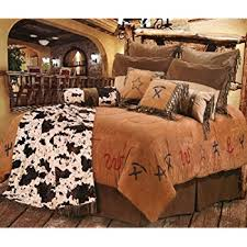 Western Duvet Covers Amazon Com Western Bedding Tooled Cowhide 5 Piece Queen Home