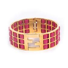 luxury leather bracelet images Fendi pink fendista braided leather bracelet jpg