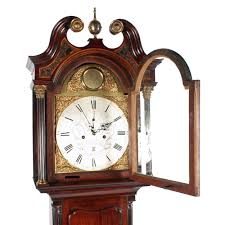 Oval Office Clock by 18th Century Edinburgh Grandfather Clock C 1780 Scotland From