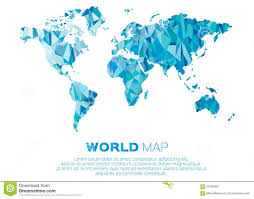 World Map Vector World Map Background In Polygonal Style Stock Vector Image