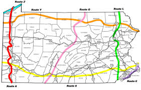 Ohio Rivers Map by Bicyclepa Route A