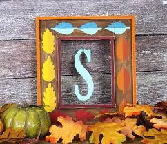 Fall Decorating Projects - framed letter fall décor project by decoart
