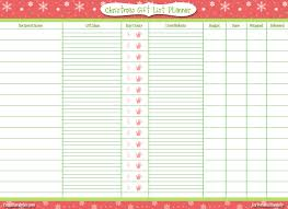 christmas gift list christmas gift planner template search organized