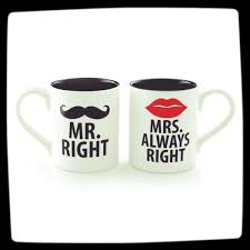 funny coffee mug mr right and mrs always right funny coffee mug