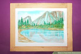 how to paint with watercolors with pictures wikihow