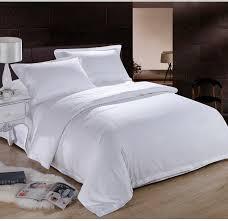 pure white hotel home textile 100 cotton bedding set queen king regarding size duvet cover plan 9