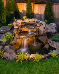 Solar Powered Water Features With Led Lights by Water Feature Near Gazebo Www Paradiseresto Backyard Pond