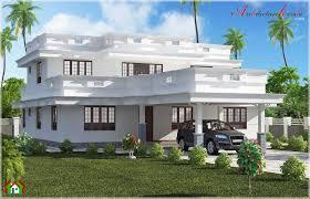 Arabian Model House Elevation Kerala Beautiful Flat Roof Home Design Architecture Kerala