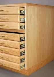 flat file cabinet wood flat file steel drawer guides