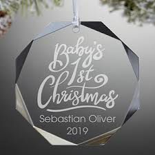 baby s engraved glass ornament baby s