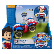 paw patrol ryders rescue atv vehicle figure target