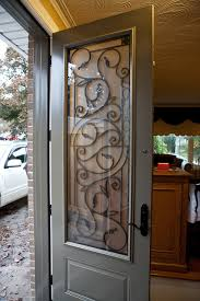 Window Inserts For Exterior Doors Brand New 8ft Steel Door System With Wrought Iron Inserts Entry