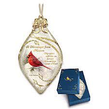 messenger from heaven illuminated cardinal tree ornament