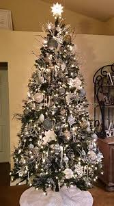 Blue And Silver Christmas Tree - christmas best silver christmas tree ideas on pinterest