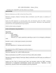 Fitness Instructor Resume Sample Smart Sample Emt Resume Large Size Emt Resumes Firefighter Resume