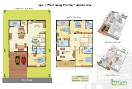 west facing duplex house plans india