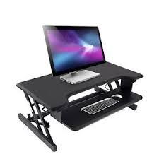 Computer Desk Height by Standing Desk Height Adjustable Desk Computer Riser Dual Monitor