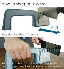 How Do You Sharpen Kitchen Knives by Amazon Com Knife Shears And Scissors Sharpening System Easy To