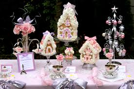 christmas tea party favors pink gingerbread house tea party pizzazzerie